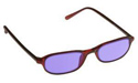 ACE-202 Downtown Burgandy Frame Protective Eye Glasses