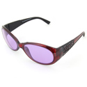 ACE-202 #230 Red/Black Frame Protective Eye Glasses