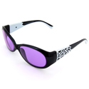 ACE-202 #230 Black/White Frame Protective Eye Glasses