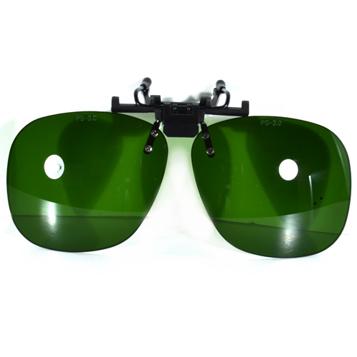 Shade 3 Plastic Clip On Flip Up Protective Eye Glasses