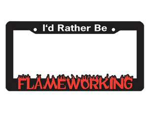 License Plate Frame - Flameworking