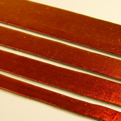 Dark Red Dichroic on Black Strips Effetre Glass