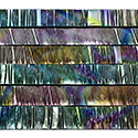 "1/4"" Reptilian Crinkle Dichroic on Black Strips Effetre Glass"