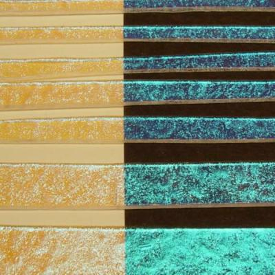 Teal Dichroic on Clear Full Sheet Effetre Glass