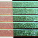 "1/4"" Teal Green Dichroic on Clear Strips Effetre Glass"
