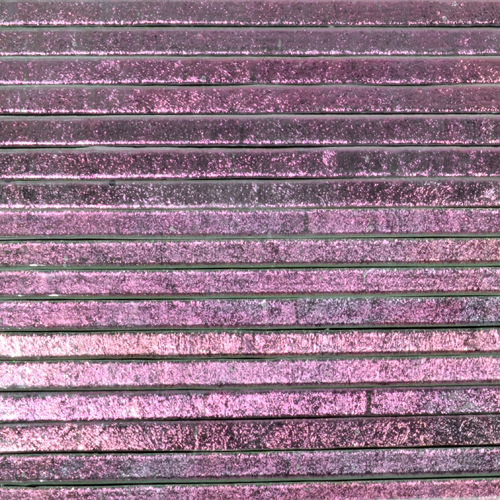 "PINK SUGAR on Clear Dichroic 1/4"" Strips"