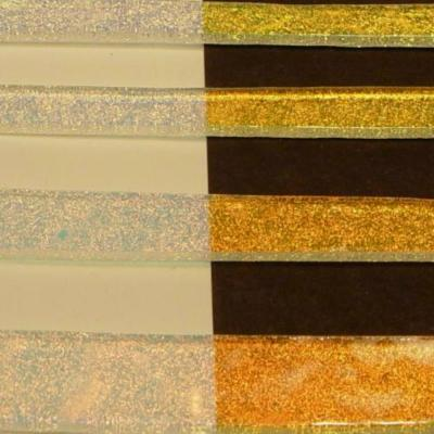 "Clear Salmon Dichroic 1/4"" Strips"