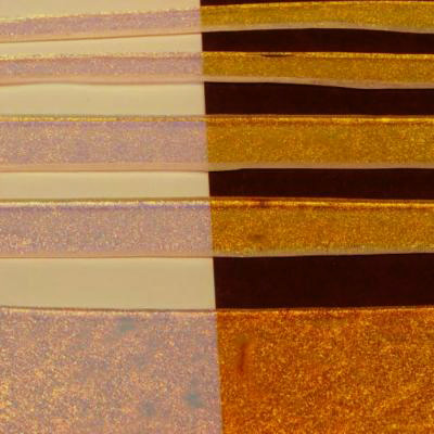 "Clear Copper Dichroic 1/2"" Strips"