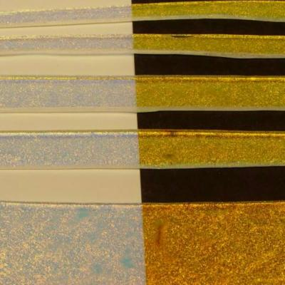 "Clear Gold Dichroic 1/2"" Strips"