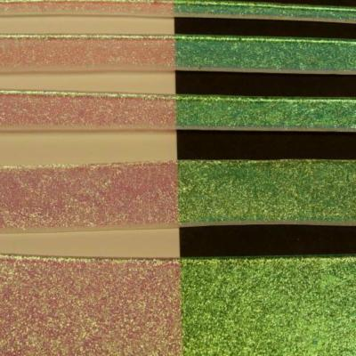 "Clear Green Dichroic 1/4"" Strips"