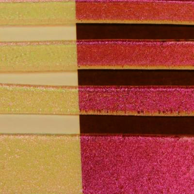 "Clear Black Cherry Dichroic 1/4"" Strips"
