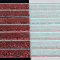 "1/4"" Black Cherry Crinkle Dichroic on Clear Strips Effetre Glass"