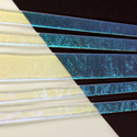 Aqua Dichroic on Clear 1/4 Sheet Effetre Glass