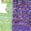 "1/4"" Magenta Blue Crinkle Dichroic on Clear Strips Effetre Glass"
