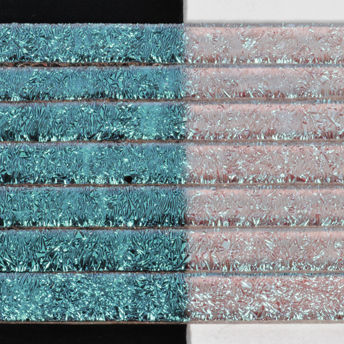 "Clear Silver Blue CRINKLE Dichroic 1/4"" Strips"