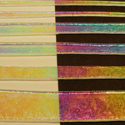 Rainbow 2+ Dichroic on Clear 1/2 Sheet Effetre Glass