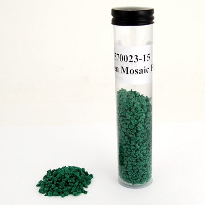Mosaic Green Glass Large Pieces, 2 oz pkg