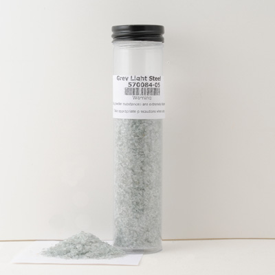 Grey Light Steel Glass Frit, 2 oz pkg