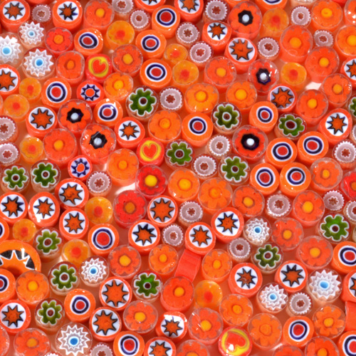 Millefiori ORANGE Mix, 1lb pkg