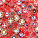 Red Mix 1 lb Millefiori Effetre Glass