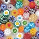 4-5mm 2oz Transparent Assorted Cut Millefiori Effetre Glass