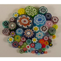 1 lb Transparent Assorted Cut Millefiori Effetre Glass