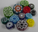 15-30mm 1 lb Transparent Assorted Cut Millefiori Effetre Glass