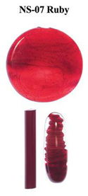Ruby Northstar Glass Rod