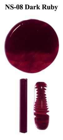 Ruby Dark Borocolour Glass Rods