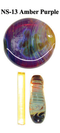 Amber Purple Northstar Glass Rod