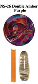 Double Amber Purple Frit 4oz Northstar Glass COE 33 Borosilicate