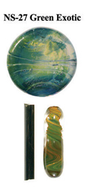 Exotic Green Northstar Glass Rod