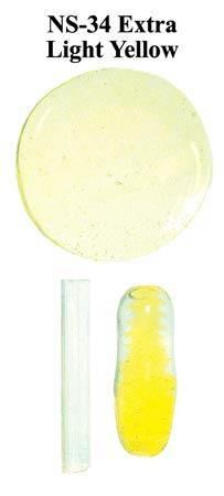 Yellow Extra Light Borocolour Glass Rods