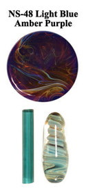 Light Blue Amber Purple Northstar Glass Rod