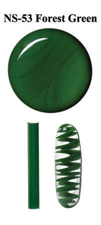 Green Forest Borocolour Glass Rods