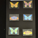 Butterfly Technicolor Pyrex Dichroic Large Pack