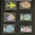 Fish Technicolor Pyrex Dichroic Large Pack