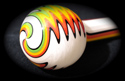 White Rasta Borosilicate Tube Golden Gate Glassworks