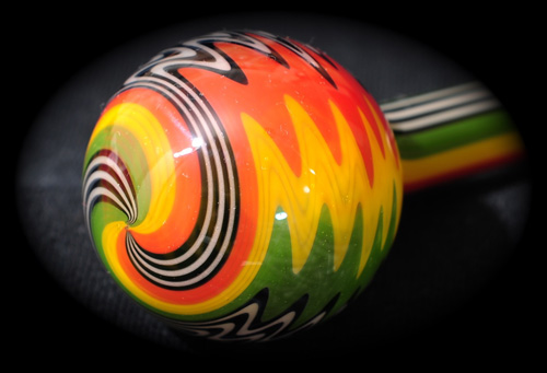 Jail House Rasta Borosilicate Tube Golden Gate Glassworks