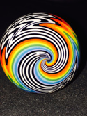 Jail House Rainbow Borosilicate Tube Golden Gate Glassworks