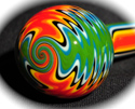 Aztec Forest Borosilicate Tube Golden Gate Glassworks
