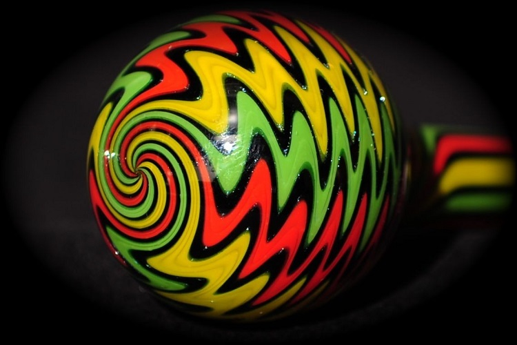 Phatt Rasta Borosilicate Tube Golden Gate Glassworks