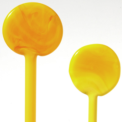 Yellow, Lemon Light Opaque Vetrofond 4-7mm Glass Rod
