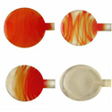 Arancio Perfecto (Orange) ODD Transparent Vetrofond 4-7mm Glass Rod