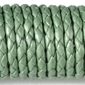 Metal Green Leather Braided Bolo 3mm Diameter Length 50  Meter