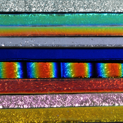 Black & Clear Assorted Dichroic Strips